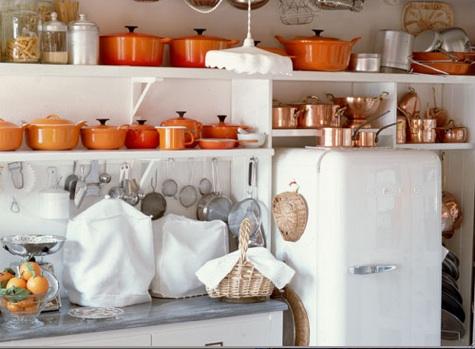 Adding color orange g designs for Orange white kitchen